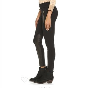 Rag & Bone Dino Black Leather Inseam Pants